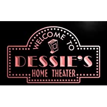 phg999-r Dessie's Home Theater Popcorn Bar Beer Neon Light Sign