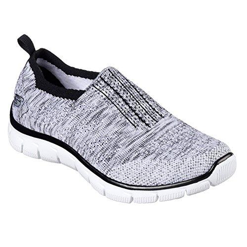 Skechers Empire-Inside Look, Zapatillas para Mujer White-Black