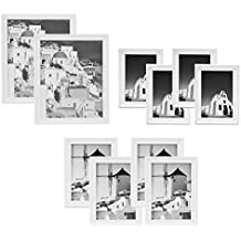 Golden State Art Wall Frame Collection, Set of 10, Solid Wood Photo Frame, White