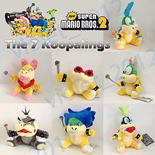 7X New Super Mario Bros. Koopalings Plush Ludwig Von Roy Iggy Koopa Soft Toy 6