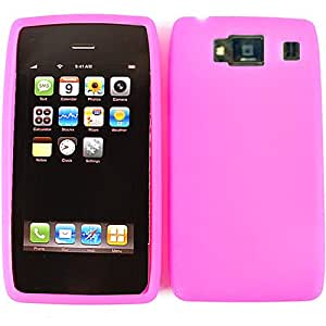 Unlimited Cellular Deluxe Silicone Skin for Motorola Droid Rarz HD (Magenta)