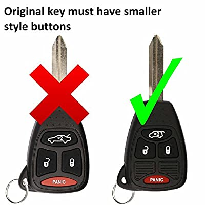 KeylessOption Just the Case Keyless Entry Remote Control Car Key Fob Shell Replacement for OHT692427AA: Automotive