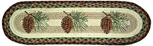 Pinecone Round - Earth Rugs 49-ST081P Stairtread, 8.25 by 27