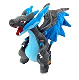 Pokemon 10'' / 25cm Charizard Plush Mega X Anime Character Doll Stuffed Animals Cute Soft Collection Toy Best Gift for Kids