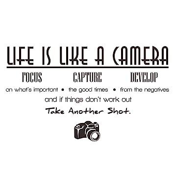 Amazoncom Elecmotive Life Is Like A Camera Focus Capture Develop