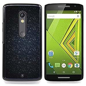- Pattern Navy Blue Gray/ Duro Snap en el tel????fono celular de la cubierta - Cao - For Motorola Verizon DROID MAXX 2 / Moto X Play