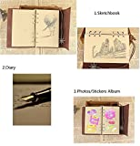 Vintage Refillable Journey Diary, Assassin Embossed