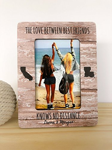 Best Friend Frame Long Distance Friendship Frame Best Friend Gift