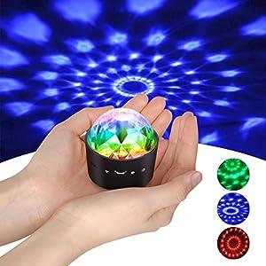 51cbZvWedZL. SS300  - Mini-Discokugel-LichtYIKANWEN-Stimme-Steuerung-Disco-Party-Lichter-Bhnenbeleuchtung-Effektlicht-DJ-Stroboskop-Kugel-mit-Spiegeln-Glitzereffekt-fr-Parties-Kinder-Geburtstag-Club