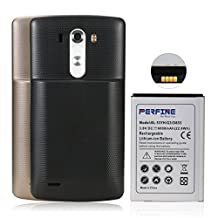Perfine LG G3 Extended Battery, 6000mAh Li-ion Battery For lg g3, BL-53YH, D855, VS985, D830, D851, F400, D850,LS990 With 2 Back Covers