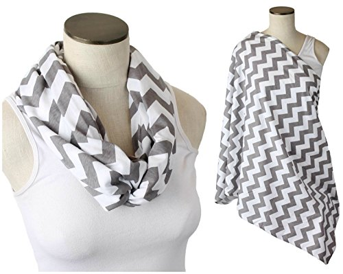 Sale Hold Me Close Nursing Scarf (Gray Chevron)