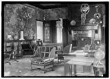 Photo: Breckenridge Long,Residence loaned to British Commission,fireplace,chairs,1917
