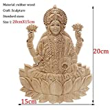 Kiartten Wooden Buddha Statue - VZLX Religious Buddha Statue Wood Carved Applique Frame Onlay Furniture Decoration Accessories Door Vintage Home Decor Crafts