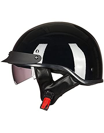 26f41186 ILM Motorcycle Half Helmet Sun Visor Quick Release Buckle DOT Approved Half  Face Cycling Helmets for