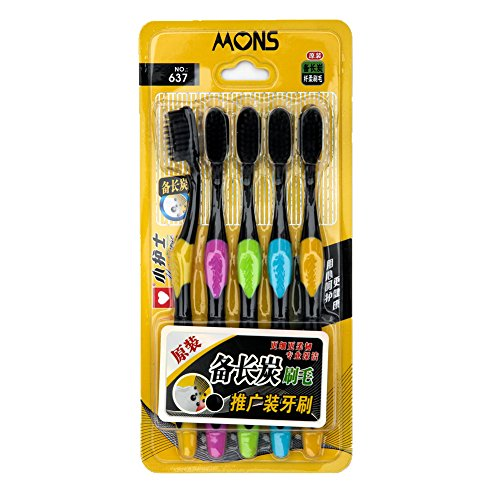 Black Charcoal Bristles Toothbrush Family