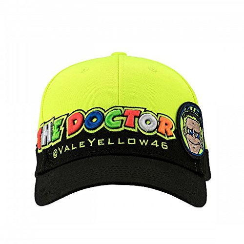 Valentino Rossi VR46 Moto GP The Doctor Black & Yellow Cap Official 2018