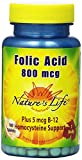 Nature's Life Folic Acid Tablets, 800 Mcg, 100 Count (Pack of 2) Review