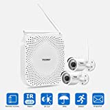 Wireless Security Camera System incoSKY 1080P WiFi Video NVR with 2 Wireless Mini Bullet IP Cameras Waterproof IP66 Night Vision for Home Surveillance, W5