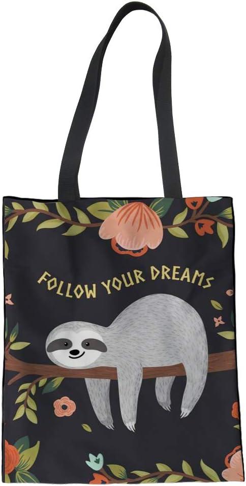 Nopersonality - Divertida bolsa de la compra de algodón para mujeres y niñas Bolsos Large 00 Perezoso