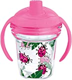 Tervis 1177830 Lady Buggin Tumbler with Wrap and Playful Pink Lid 6oz My First Tervis Sippy Cup, Clear