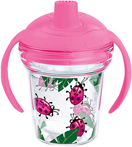 Tervis 1177830 Lady Buggin Tumbler with Wrap and Playful Pink Lid 6oz My First Tervis Sippy Cup, Clear by Tervis