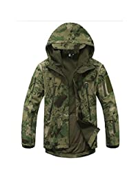 Coldstar Waterproof Military Tactical Combat Softshell Jacket Outdoor Camping Hiking Camouflage Hoodie Coat
