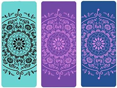 Yoga mat ヨガマット10ミリメートル超厚い高密度段ボールマット、ピラティス、フロアマット185Cm 80センチメートルセンチ環境に優しいノンスリップヨガプラティフローリングを持つすべてのヨガマットに適した(複数の色) workout (色 : Purple)