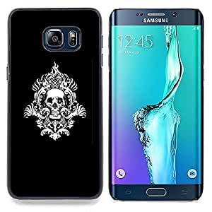 SKCASE Center / Funda Carcasa protectora - Modelo del cráneo tribal;;;;;;;; - Samsung Galaxy S6 Edge Plus / S6 Edge+ G928