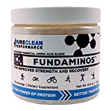 FUNDAMINOS - 30 serving - Great-Tasting Essential Amino Acid Powder + BCAA Blend, Organic, Plant-Based Athlete Endorsed, Physician Formulated for Peak Strength and Faster Muscle Recovery - (195 grams)