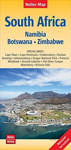 South Africa, Namibia, Bostwana, Zimbabwe Nelles Map 1:2.5M WP (English, French and German...