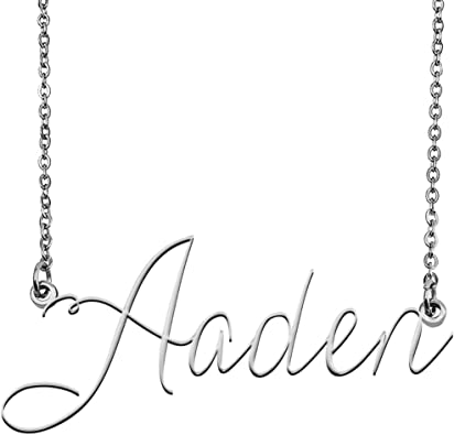 Personalised Any Name Necklace Chain Caitlin Nameplate Pendant Stainless Steel