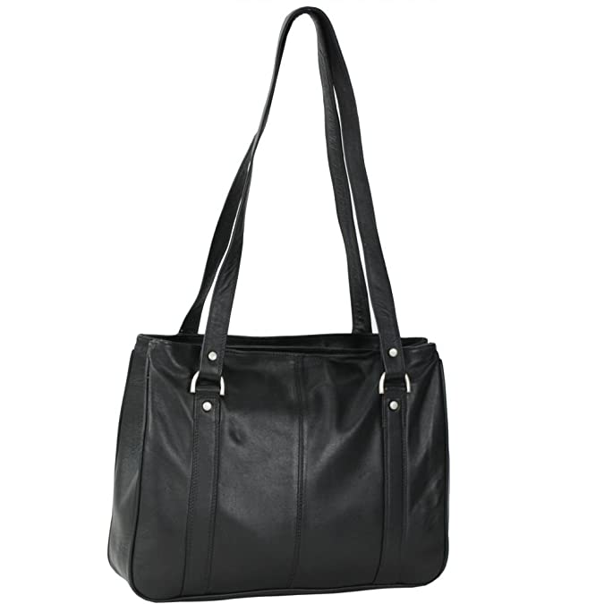Soft Nappa Damentaschen Shopper Leder 32 cm Mika Lederwaren i4CR02k7Y