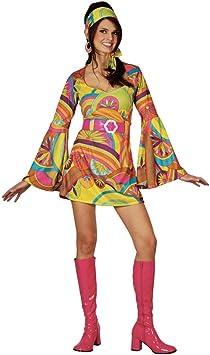 Retro - Disfraz de chica mujer, talla M (EF-2059. M): Amazon.es ...