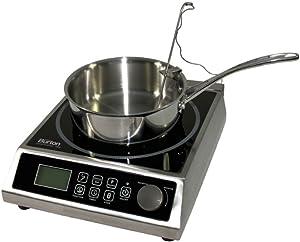 Max Burton 6515 Digital ProChef-1800 Induction Cooktop, Digital Controls, 10 Adjustable Watt and 15 Temperature Settings, Timer, Program Lock, Programmable Cooking, 1800W, 120V