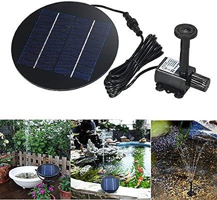 MJLXY 9V / 2W Bomba Sumergible con Panel Solar Giratorio para Agua Jardín Piscina Fuente: Amazon.es: Deportes y aire libre