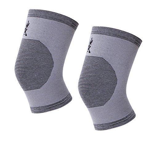 DGQ 1 Pair x Bamboo Charcoal Knee Wrap Support Elastic Brace Patella Sport Pad Elastic Kneecap Canions Genouillere Sports Gym Leggings Bamboo Charcoal Leg Slimming Knee Brace Support Protector - Fat Bamboo