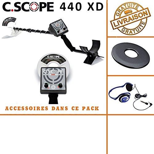 /Rilevatore di metalli CS 440/x D con Protegge Disco e auricolari c-scope/