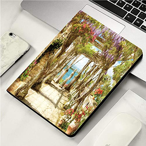 Stylish Print case for iPad air, ipad air2, Soft Back Ultra-Thin TPU Leather Smart case,The Historic Old West Spanish Mission San Jose Founded in 1720 San Antonio Texas A Part of The National Park S ()