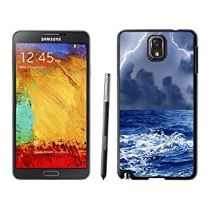 NEW Unique Custom Designed Samsung Galaxy Note 3 N900A N900V N900P N900T Phone Case With Thunderstorm At Sea_Black Phone Case