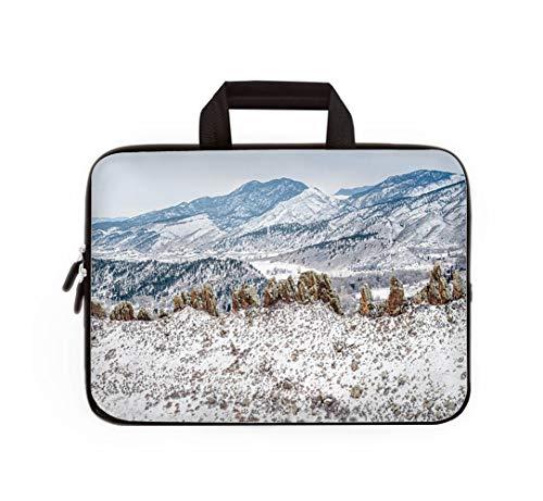 Double Zipper Laptop Bag,Devils Backbone Panorama,13 inch Canvas Waterproof Laptop Shoulder Bag Compatible with 11.12.6
