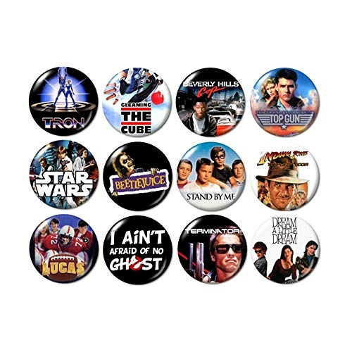 80's Movies Buttons (set #3) -