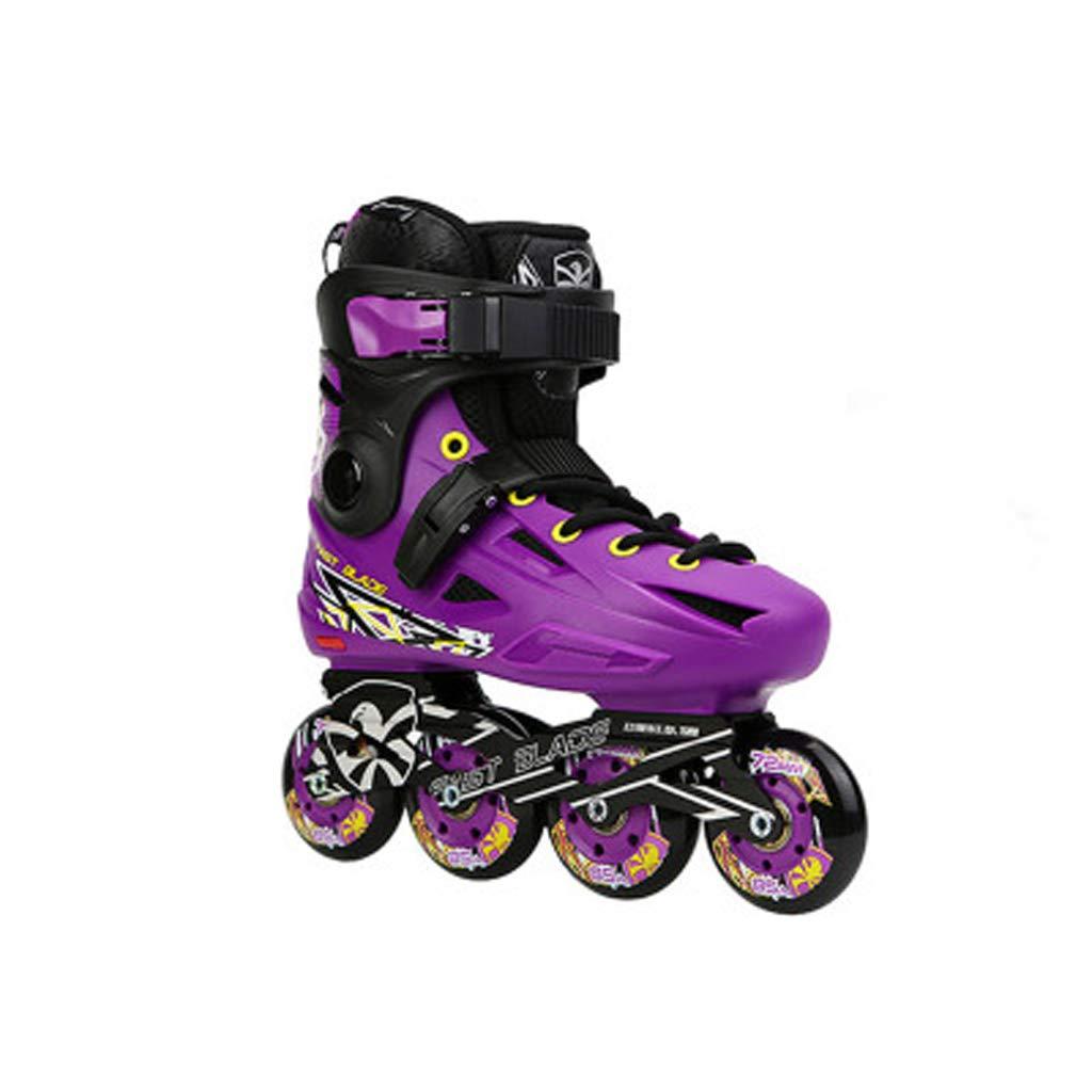 LIUXUEPING ローラースケート、 ローラーシューズ、 アダルトスケートセット、 初心者のフラットシューズ B07GJHLN5H 39|Purple Purple 39