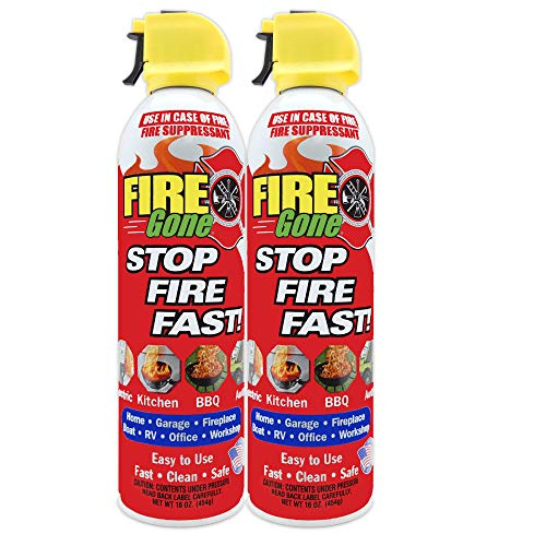 Fire Gone 2NBFG2704 White/Red Fire Suppressant Canisters
