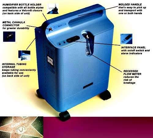 Everflo w/ OPI Home Use Air Purifier – Portable Oxygen Concentrator Compressor – Home Use