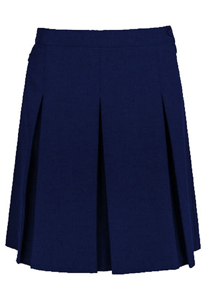 Momo&Ayat Fashions Girls School Uniform Stitched Down Pleated Side Zip Skirt Age 5-16 Years/Waist 10