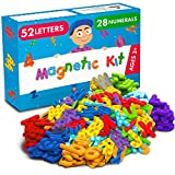 Magnetic Letters and Numbers for Toddlers and Kids - Premium Alphabet Magnets for Refrigerator and Dry Erase Board - Foam 123 ABC Magnets - Educational Toy for Preschool Learning, Spelling, Counting