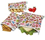 Wegreeco Reusable Snack Bags, (Set of 3) - Lovely Bird