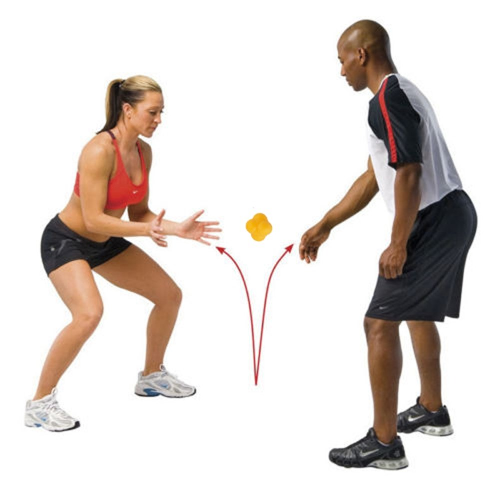 Hexagonal Reaction Ball, Smart Sensitive Ball and Agility Trainer for Improving Speed Agility, Reflexes, Hand and Eye Coordination by CTRICKER (Image #4)