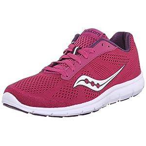 Saucony Women's Ideal Running Shoe, Berry/White, 8 M US