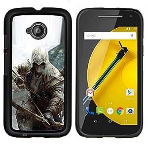Caucho caso de Shell duro de la cubierta de accesorios de protección BY RAYDREAMMM - Motorola Moto E2 E2nd Gen - Bow Assassin